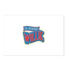 The Incredible Willie Postcards (Package of 8)