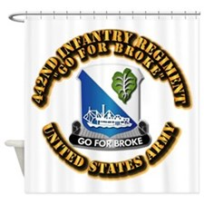 Army - DUI - 442nd Infantry Regt Shower Curtain