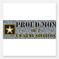 """Cute Semper fi us army soldiers Square Car Magnet 3"""" x 3"""""""