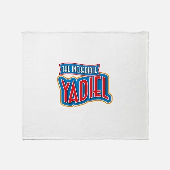 The Incredible Yadiel Throw Blanket