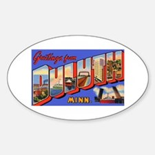 Duluth Minnesota Greetings Oval Decal