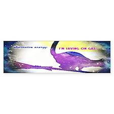 Alternative Energy Cat purple Bumper Sticker