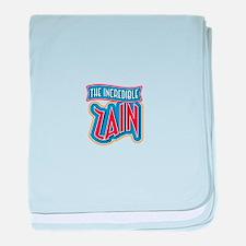 The Incredible Zain baby blanket