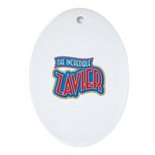 The Incredible Zavier Ornament (Oval)