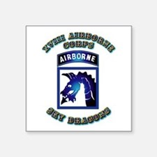"XVIII Airborne Corps - SSI Square Sticker 3"" x 3"""