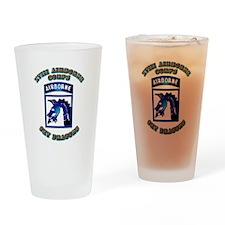 XVIII Airborne Corps - SSI Drinking Glass