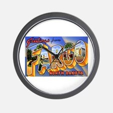 Fargo North Dakota Greetings Wall Clock