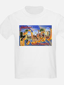 Fargo North Dakota Greetings (Front) Kids T-Shirt
