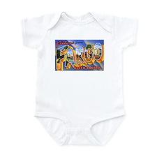 Fargo North Dakota Greetings Infant Bodysuit