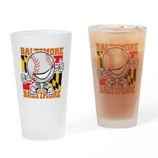 Baseball Dude Baltimore Drinking Glass