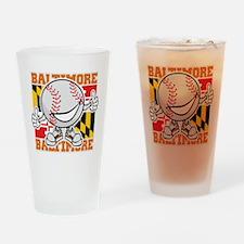 Baseball Dude Baltimore Drinking Glass