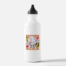 Baseball Dude Baltimore Water Bottle