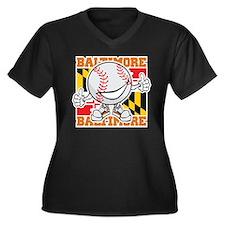 Baseball Dude Baltimore Plus Size T-Shirt