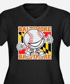 Baseball Dude Baltimore Plus Size T-Shirt