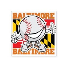 Baseball Dude Baltimore Sticker