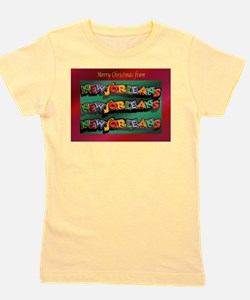 FrenchQuarterChristmasCard.png Girl's Tee