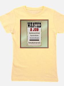 Job Wanted Girl's Tee