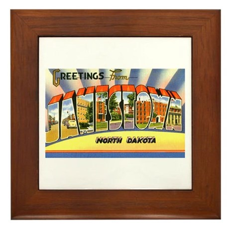 Jamestown North Dakota Greetings Framed Tile
