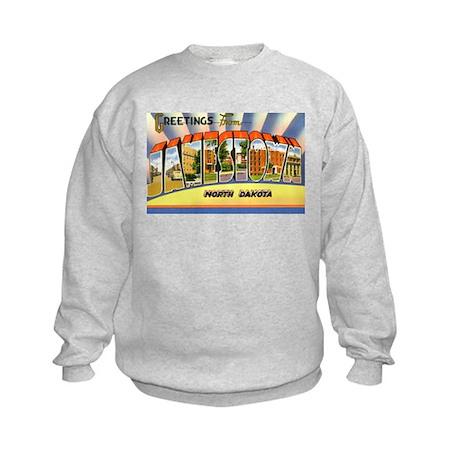 Jamestown North Dakota Greetings Kids Sweatshirt