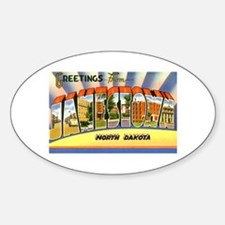 Jamestown North Dakota Greetings Oval Decal