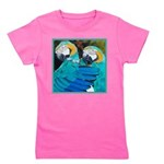 TurquoiseParrotsCurtain.png Girl's Tee