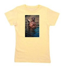 DolphinPhotoShowerCurtain.png Girl's Tee