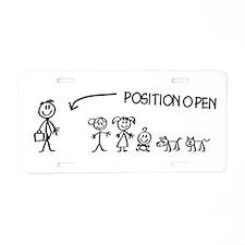 Stick Figure Family Woman Position Open Aluminum L