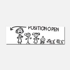 Stick Figure Family Man Position Open Car Magnet 1