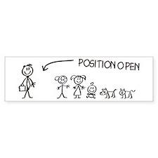 Stick Figure Family Woman Position Open Bumper Bumper Sticker
