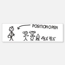Stick Figure Family Woman Position Open Bumper Bumper Sticker