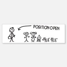 Stick Figure Family Woman Position Open Stickers