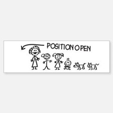 Stick Figure Family Man Position Open Bumper Bumper Sticker
