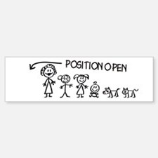 Stick Figure Family Man Position Open Bumper Stickers