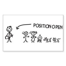 Stick Figure Family Woman Position Open Decal