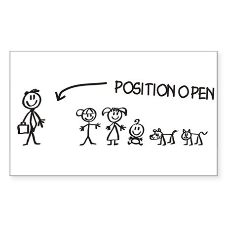 Stick Figure Family Woman Position Open Sticker (R