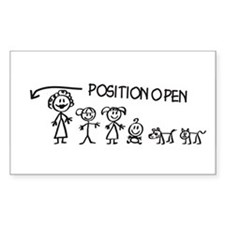 Stick Figure Family Man Position Open Decal