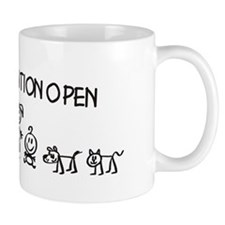 Stick Figure Family Man Position Open Mug