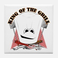 Chef Hat and BBQ Tools Tile Coaster