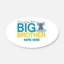 Add Name Big Brother Oval Car Magnet