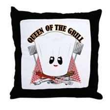 ChefHat and BBQ Tools Throw Pillow