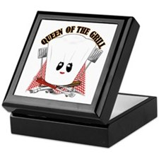 ChefHat and BBQ Tools Keepsake Box