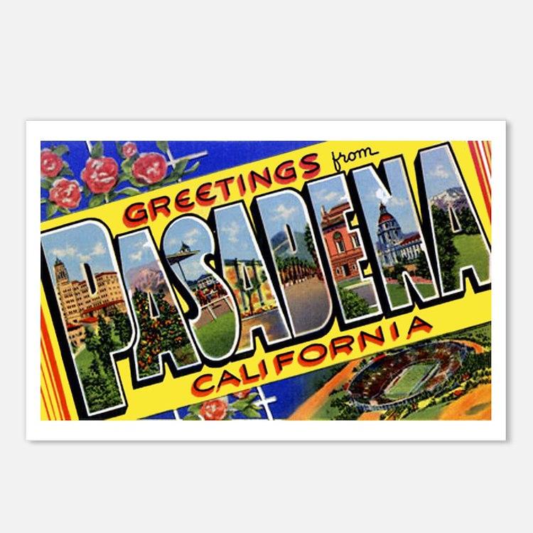 Pasadena California Greetings Postcards (Package o