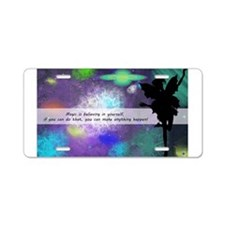 Magic is believing in yourself Aluminum License Pl