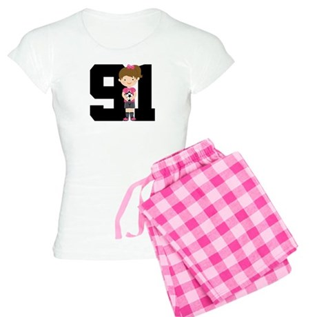 Soccer Sports Number 91 Women's Light Pajamas