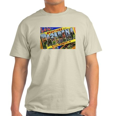 Pasadena California Greetings Ash Grey T-Shirt