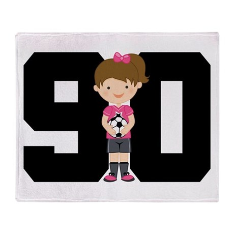 Soccer Sports Number 90 Throw Blanket
