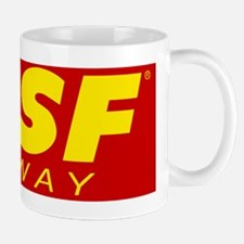 SPSF Railway Modern Herald Yellow on Red Mug