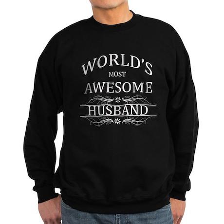 World's Most Awesome Husband Sweatshirt (dark)