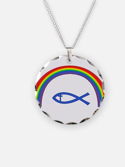 Rainbow Fish (cntr txt) Necklace