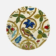 Elizabethan Swirl Embroidery Ornament (Round)